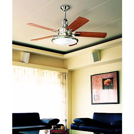 52 kichler kittery point polished nickel ceiling fan n0811 52 kichler kittery point polished nickel ceiling fan n0811 lamps plus aloadofball Image collections