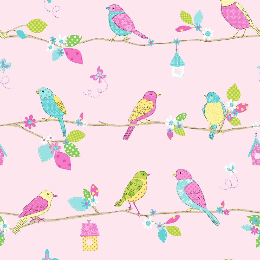 pretty design bird home decor. Shop Hoopla Pretty Birds Pink Wallpaper Free delivery and returns on  eligible orders images of vintage borders wallpapers with women Home