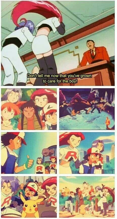 Team Rocket, don't even try to pretend you don't care for him.