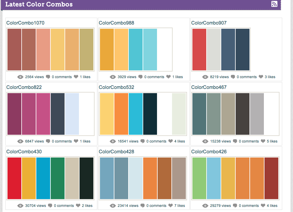 Presentations Color Combinations