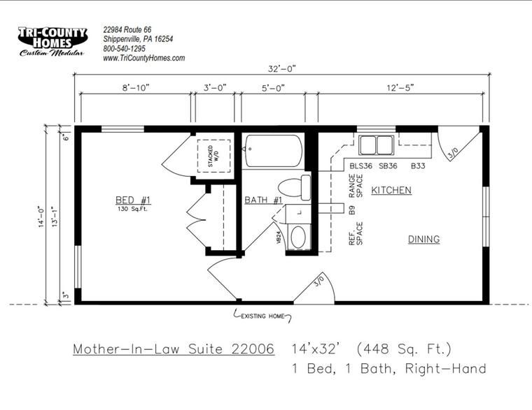 Half The Garage With Images Tiny House Floor Plans Inlaw