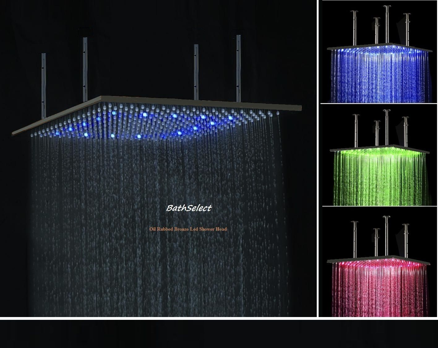Wide Selections On Fontana Oil Rubbed Bronze Led Color Changing Rain Shower Head 652
