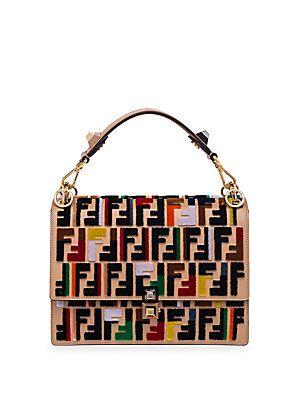 6642c848f9 Fendi Kan I Embroidered Messenger Bag