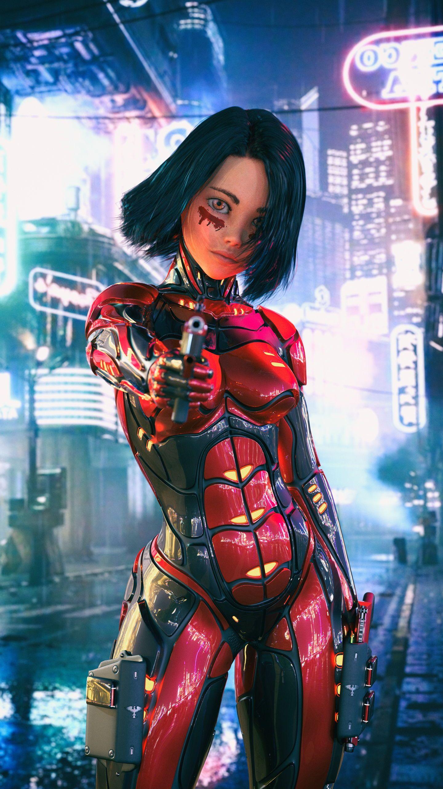 Alita Battle Angel Wallpaper Wallpaper Poster Save Iphone Cyberpunk Art Cyberpunk Girl Cyberpunk Aesthetic