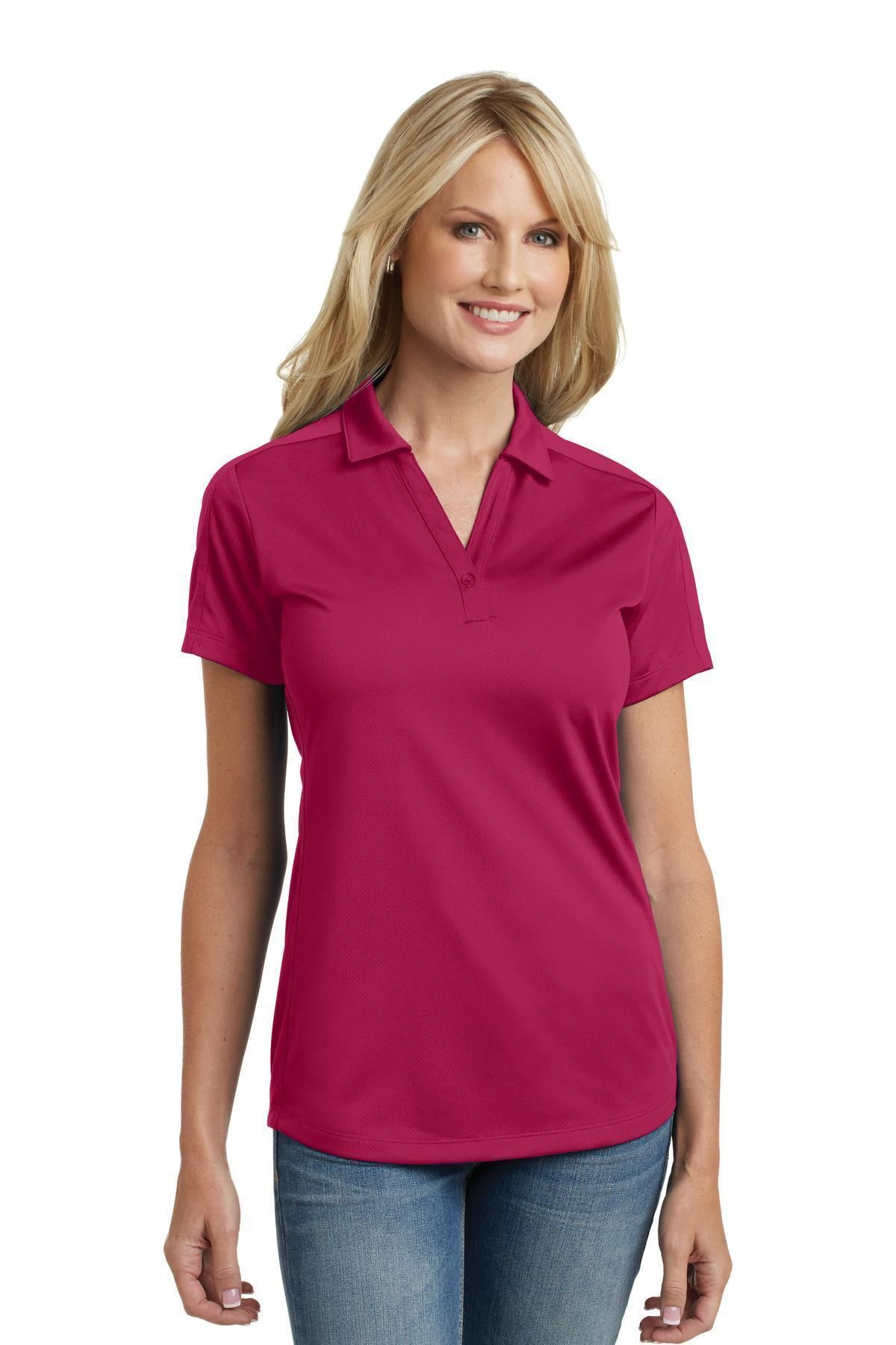 566d741b98c1f7 Port Authority Ladies Diamond Jacquard Polo L569 Dark Fuchsia Diamond