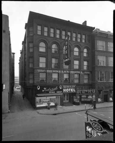 Berkeley Hotel 664 S 4th St Louisville Kentucky 1940 S With