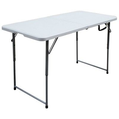 4 Folding Banquet Table Off White Plastic Dev Group In 2020 Folding Table Simple Storage Table