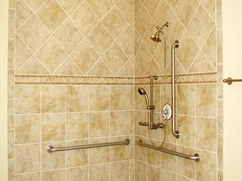 tiling bathroom walls | Accessible Bathroom Tiled Showers Designs ...