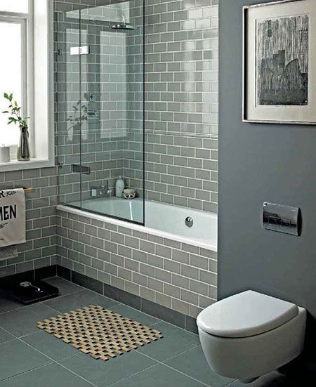 Ordinaire Gray Bathroom U0027Perfect Sanctuaryu0027 Using Smoke Grey Subway Tiles