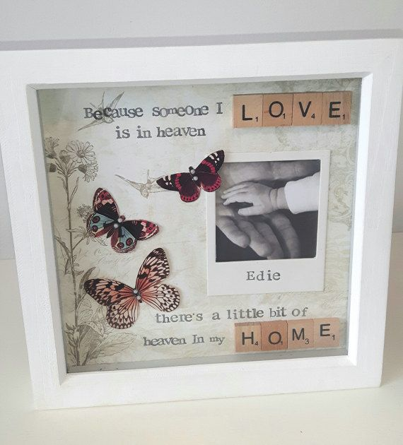 Heaven In Our Home, Scrabble Frame, Bereavement, Remembrance ...