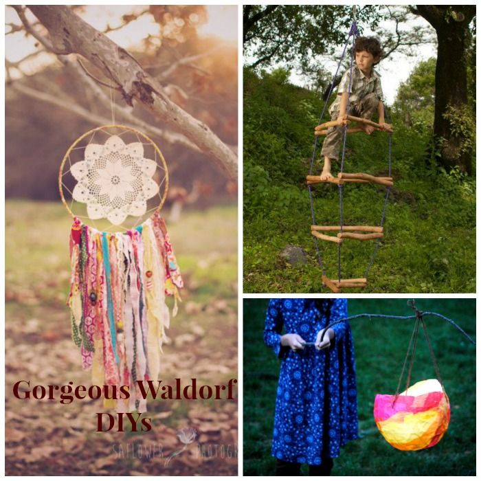 These Waldorf DIYs are GORGEOUS. We will be making that ladder for inside this winter time! I just love waldorf crafts and activities!
