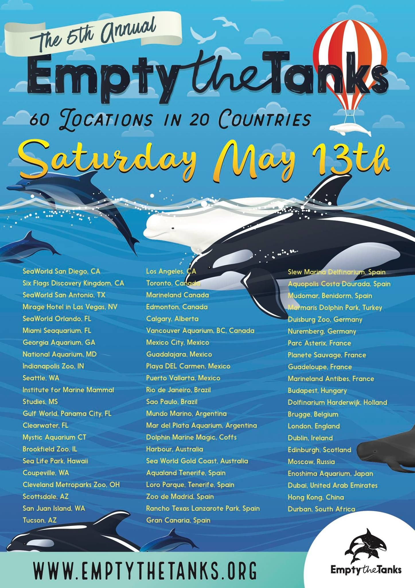 May 13 Is Empty The Tanks Dolphin Project Animal Activism Orcas In Captivity Seaworld San Diego