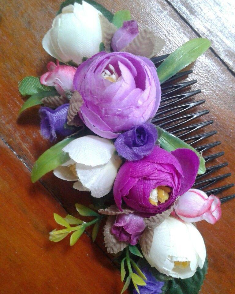moderno y elegante en moda brillo de color auténtica venta caliente Peineta de flores | Cinturón con flores artificiales ...