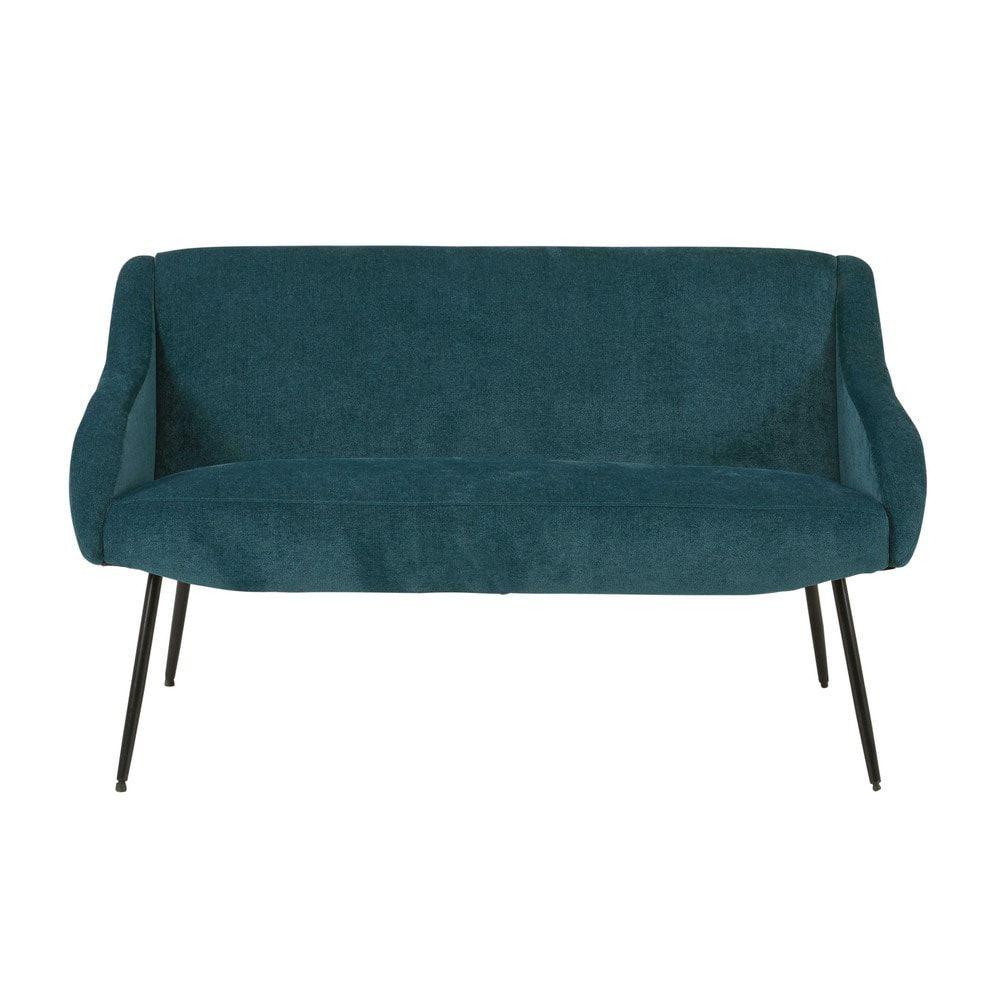 Canapés in 2019 | canapé salon | Blue fabric, Metal, Sofa