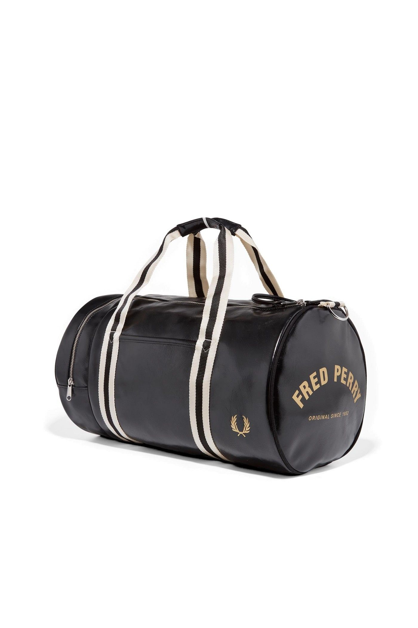 5b9c20795a43 Fred Perry - Classic Barrel Bag Black   Gold