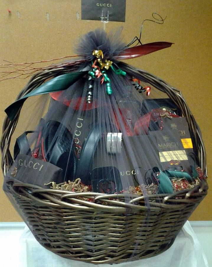 Mens fashion gift basket designed with gucci gift items 100 wrapping ideas mens fashion gift basket designed with gucci gift items negle Image collections