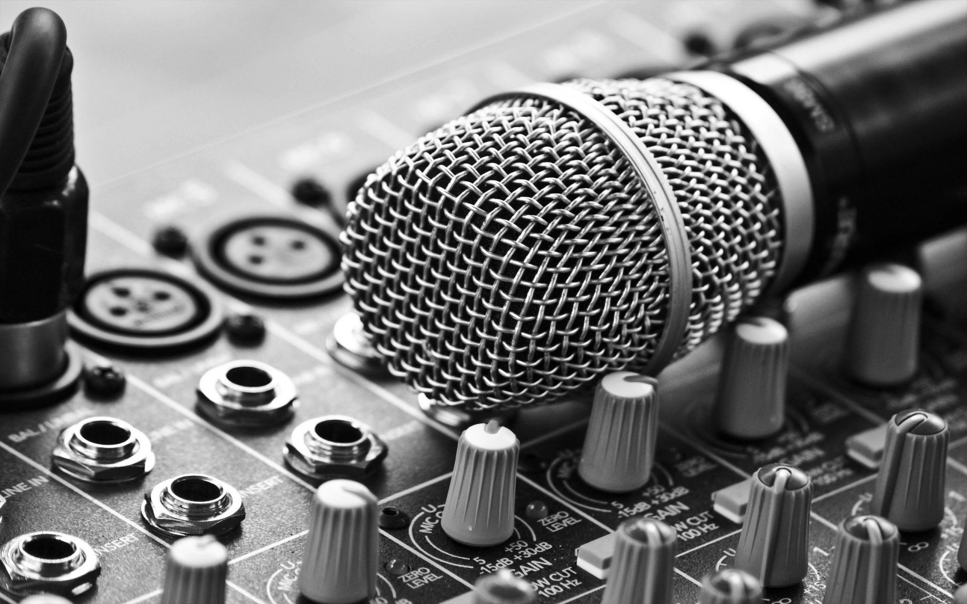 Classic Mic and Mixer. mic mixer dj djwallpaper