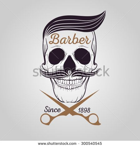retro barber shop logo, Skull logo | 06_stock | Pinterest ...