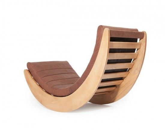 Relaxer Wooden Rocking Chair VERNER PANTON