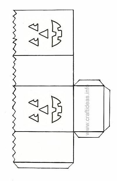 Paper Lantern Template - Happy Jack o\' Lantern | Paper lanterns ...