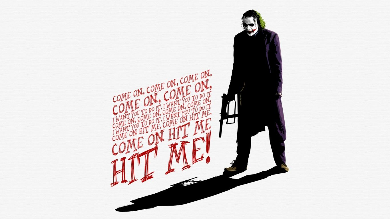 1366x768 wallpaper heath ledger joker the dark knight stuff i like joker wallpapers joker - Joker brand wallpaper ...