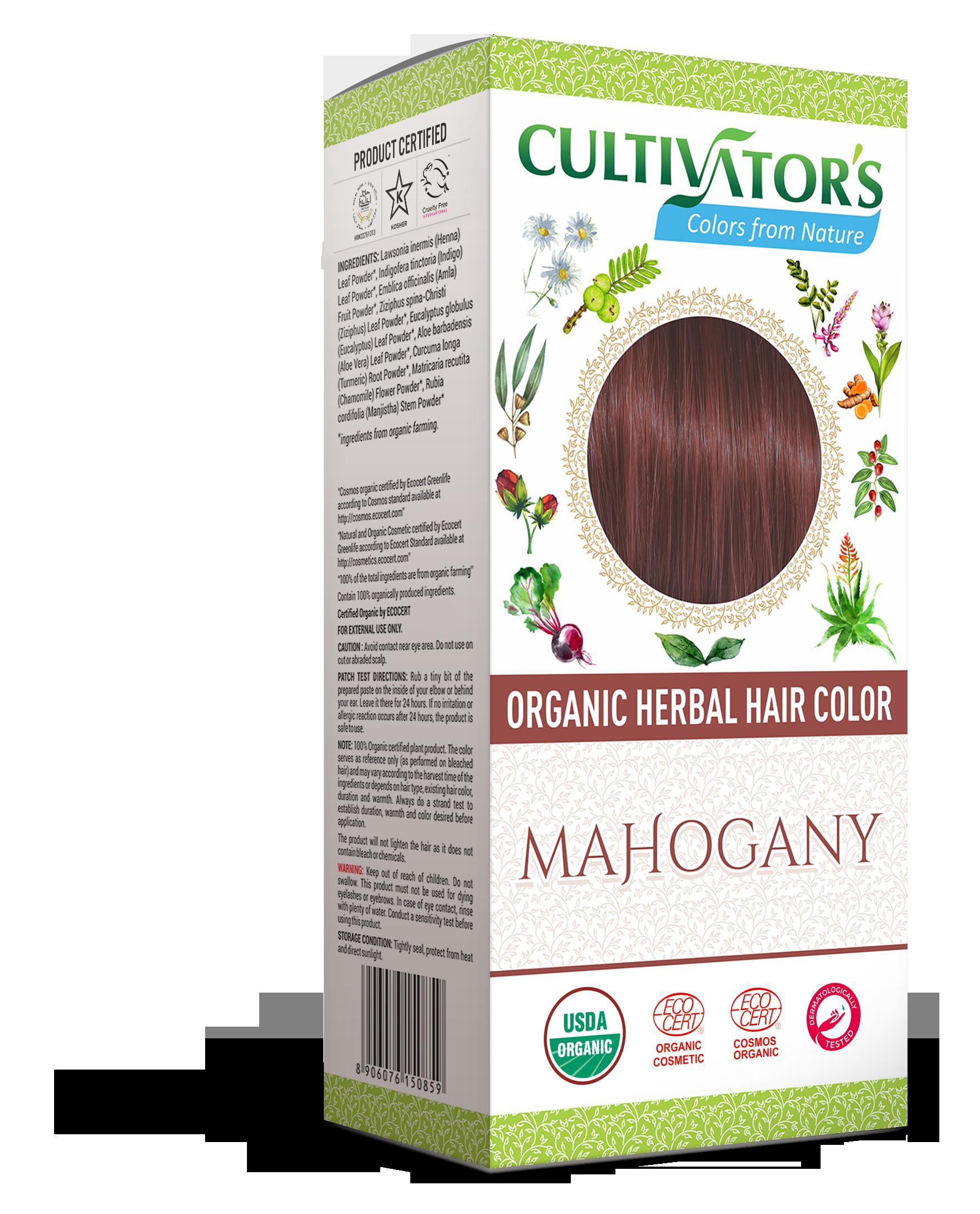 Mahogany Organic Organic Herbal Hair Color Indigo Henna Amla Aloe Ziziphus Eucalyptus Turmeric Chamomile M Herbal Hair Colour Herbal Hair Hair Color
