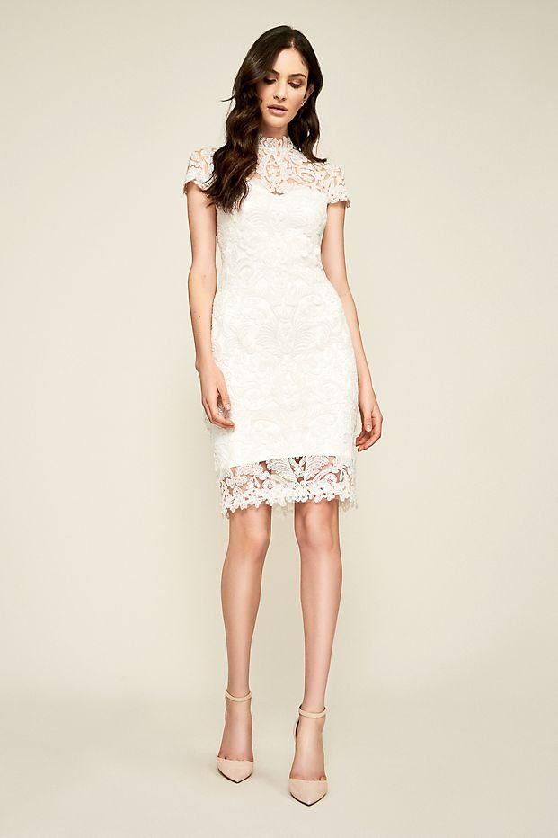 Bridget Lace Sheath Wedding Dress By Tadashi Shoji Available At