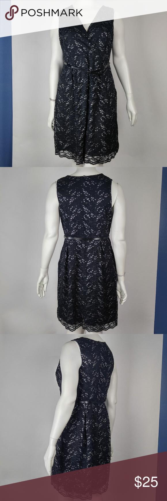 b276961197f Lane Bryant Dress Lace Overlay Black Lane Bryant Women s Dress Lace Overlay  Black Silver Metallic Plus Size 16 Lace Overlay Belted Silver Metallic ...
