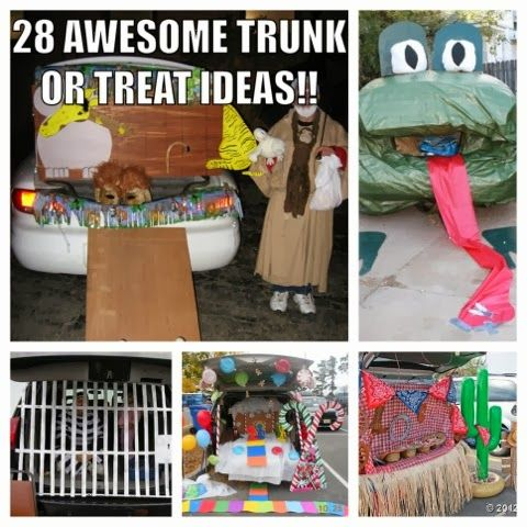 Laurie\u0027s Little Monkeys - lots of trick or trunk ideas! Halloween - halloween decorated cars
