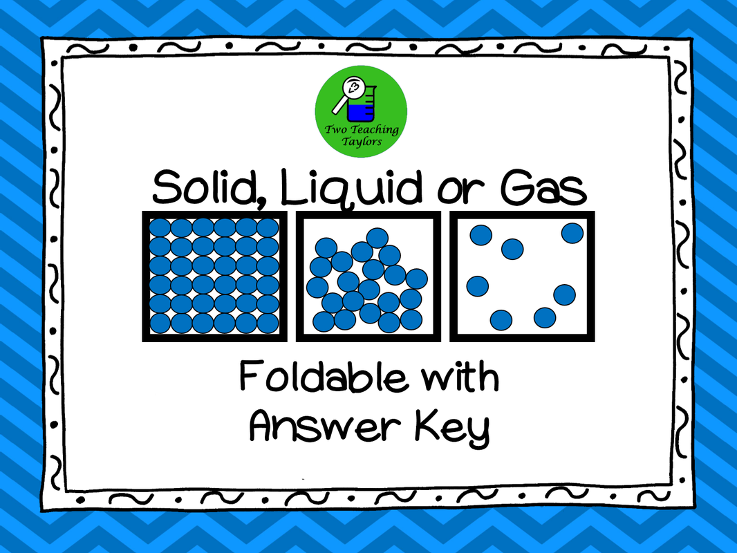 States Of Matter Solid Liquid Or Gas Foldable And Task Card Activity Task Card Activities Task Cards Foldables