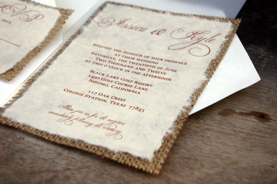 Do it yourself diy simple rustic burlap by invitationsbyalecia do it yourself diy simple rustic burlap wedding invitation rustic barn solutioingenieria Image collections