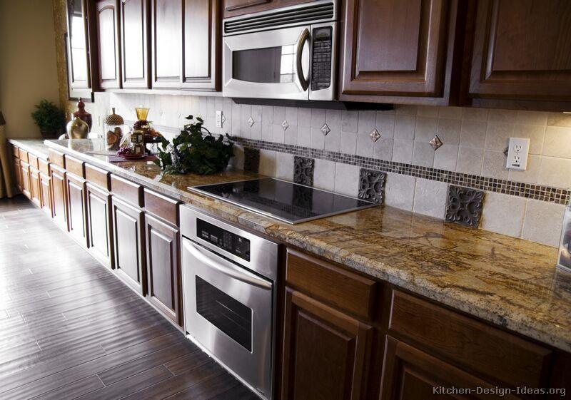 Superb Walnut Kitchen Flooring Ideas Part - 12: Google Image Result For Http://www.kitchen-design-ideas.org/images/kitchen -cabinets-traditional-dark-wood-walnut-color-028-s2590497-tile-backsplashu2026