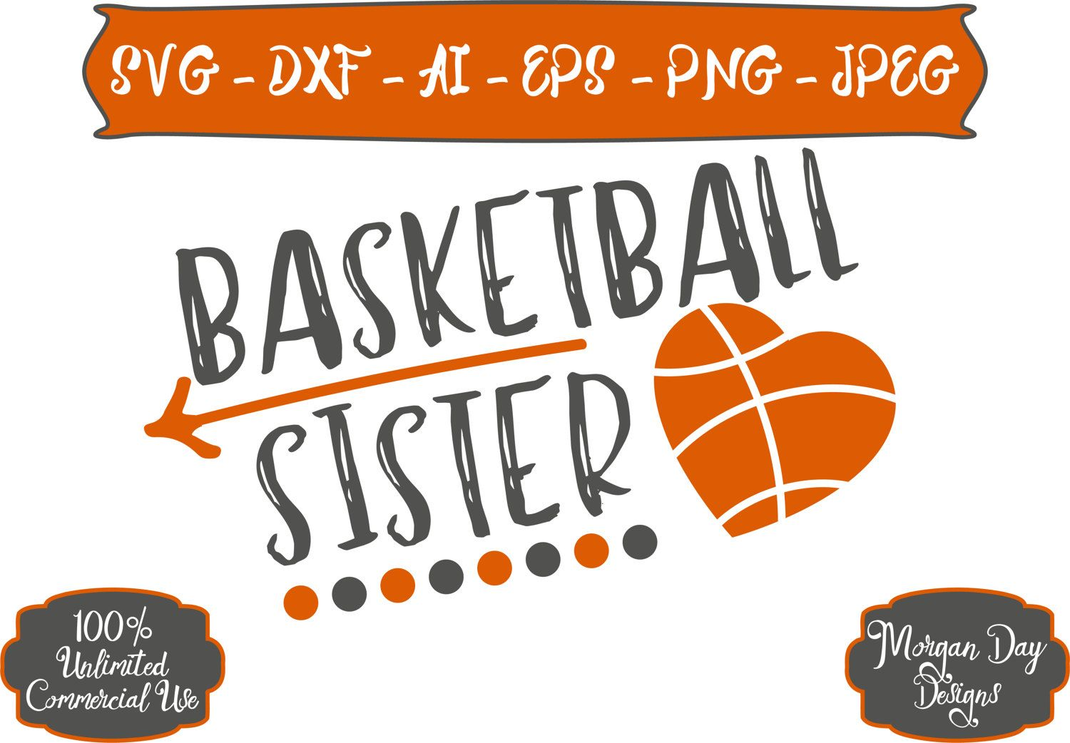 Basketball Sister SVG Basketball SVG Sister SVG