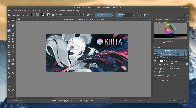 Krita 4 1 0 Paint Software Open Source Krita