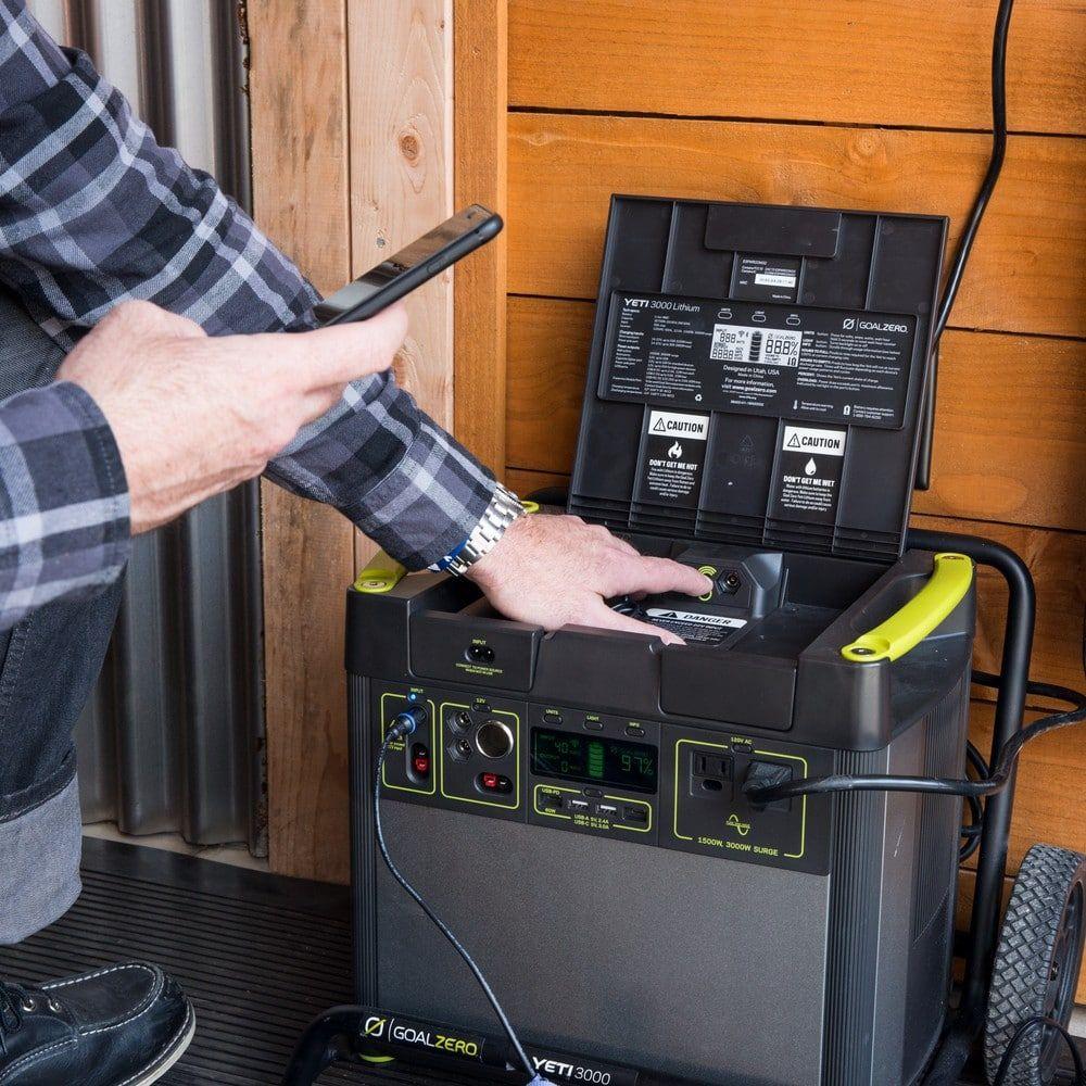 New Goal Zero Yeti 3000 Lithium Portable Power Station With Wifi Goal Zero Portable Power Solar Power Diy