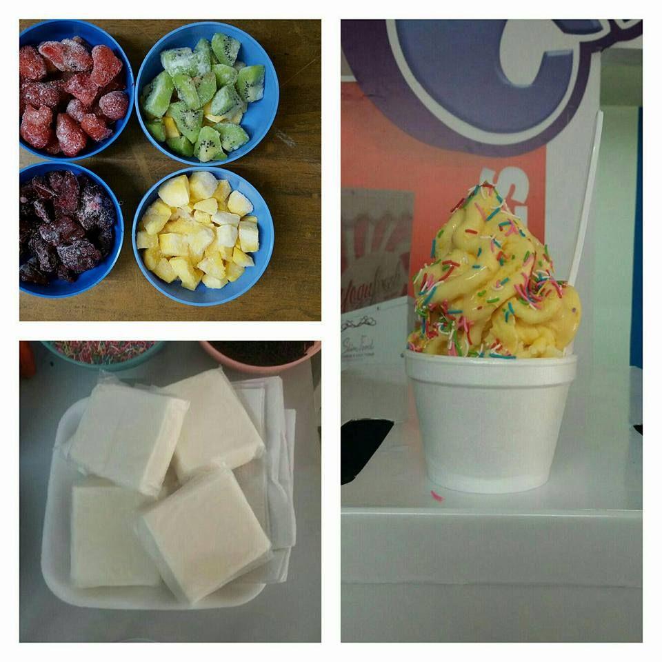 (99) Maquina para Chascafrutas, nieve de yogurt con frutas naturales