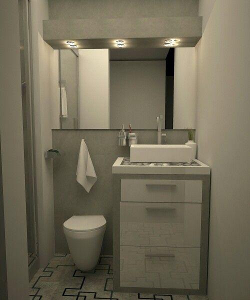 Baño de visita white &gray | Baño de visitas, Disenos de ...