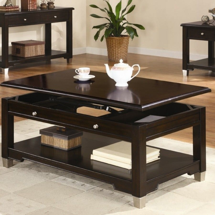 Wildon Home Lyman Coffee Table In Dark Brown Walnut 812209 Coffee Table Living Room Table Sets Wood Lift Top Coffee Table [ 900 x 900 Pixel ]