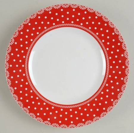 222 Fifth (PTS) Home Cupboard-Red at Replacements, Ltd dinner plate