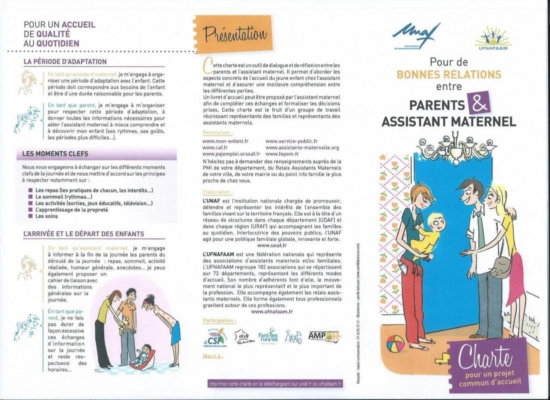 charte d u0026 39 accueil  assistante maternelle villeparisis