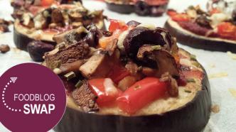 Foodblogswap november: Aubergine pizza's #foodblogswap