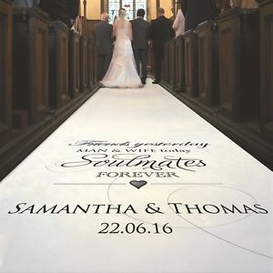 Details About Personalised Wedding Aisle Runner Church Carpet Decoration 20ft 30ft