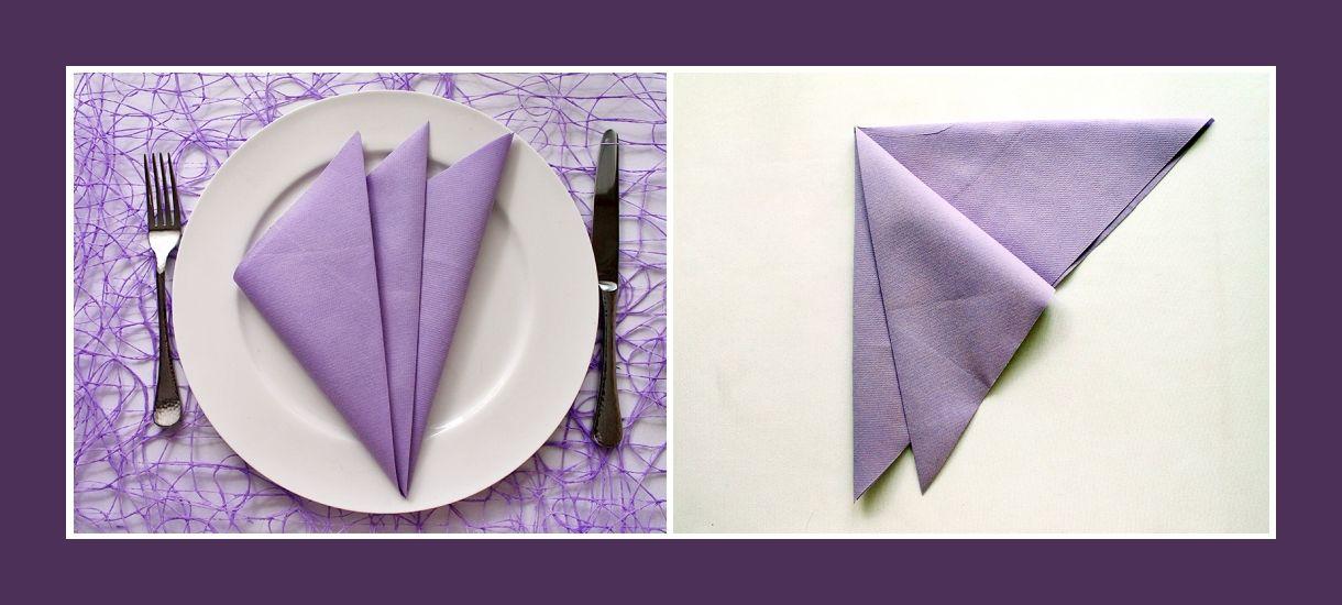 Servietten Falten Fächer servietten falten fächer lila servietten servietten