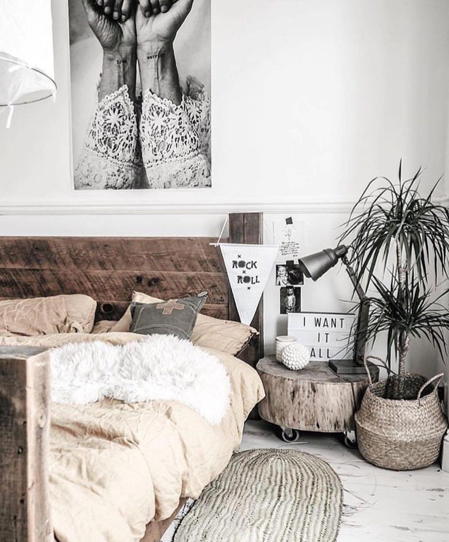 Rustic hippy bedroom via interiormilk Rustic