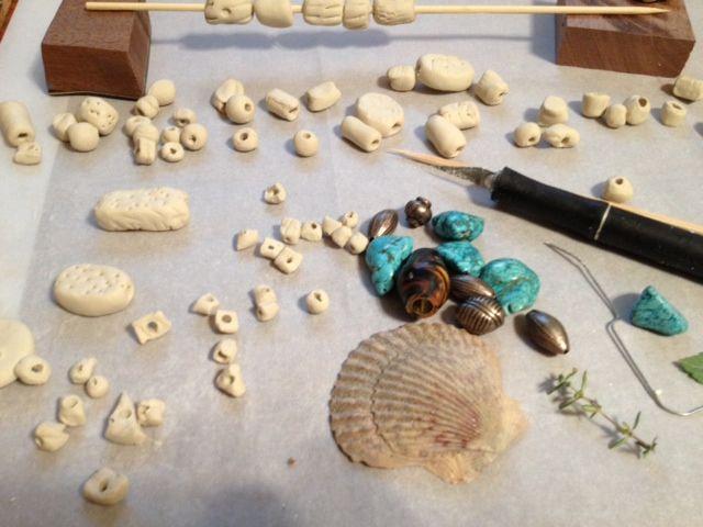 Making Crayola Air Dry Clay Beads Tonight I39ll Paint Them