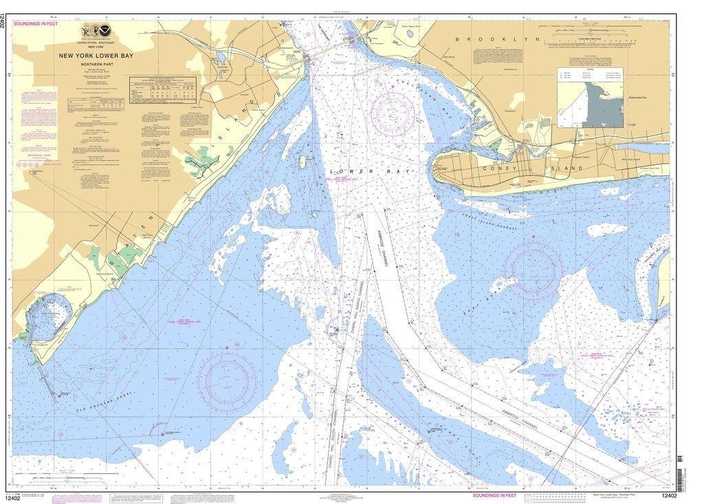 NOAA Nautical Chart 12402: New York Lower Bay Northern part