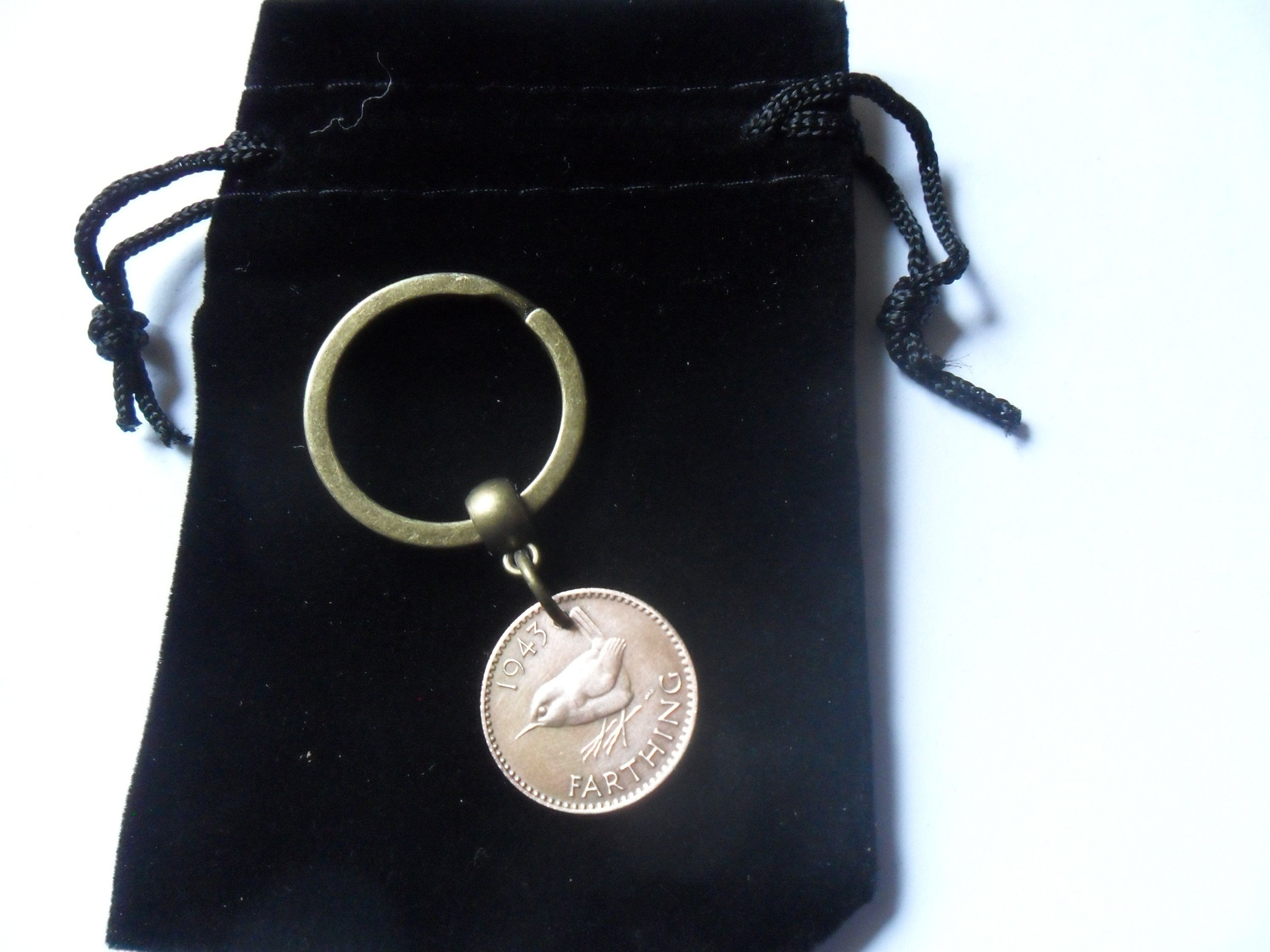 75th Birthday Present Gift 1943 Farthing British Bird Coin Keyfob Unusual For A Man Woman By Staffscoins On Etsy