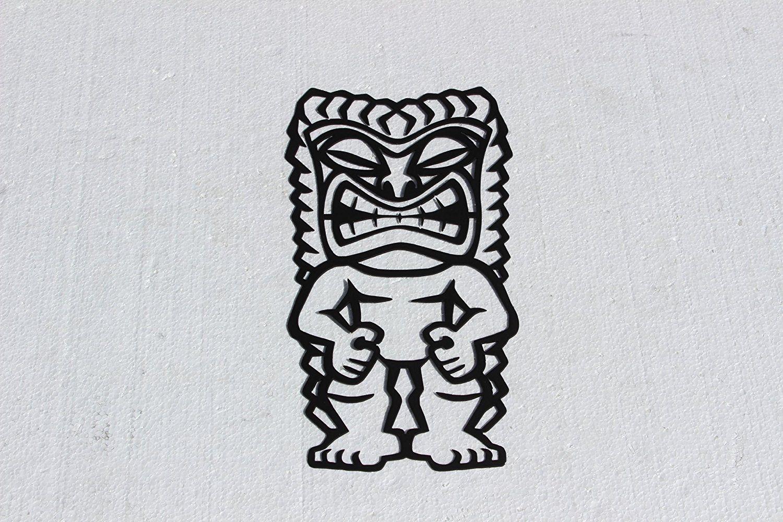 Hawaiian tiki warrior metal wall art tropical decor you can get