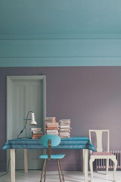 fb2148c40 Perfecta combinación de colores para pared y cielo raso