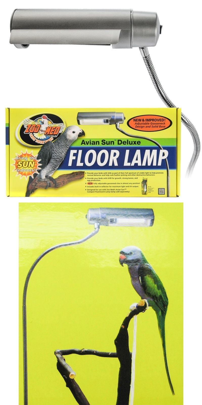 Other bird supplies 3211 zoo med avian sun deluxe floor lamp bird other bird supplies 3211 zoo med avian sun deluxe floor lamp bird birds aloadofball Images